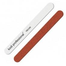 Пилка для ногтей Прямая White/Brown 180/240 Kodi
