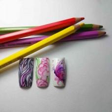 """Мастер-класс """"Акварельные карандаши на ногтях.""""(3 часа)"""