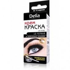 Краска для бровей и ресниц черная, Delia №1.0