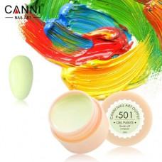 Гель-краска Canni 501 бледно-салатовая