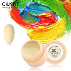 Гель-краска Canni 504 бледно-жёлтая