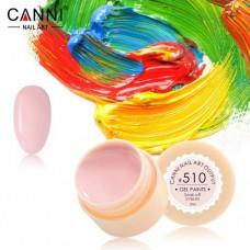 Гель-краска Canni 510 розово-молочня