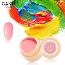 Гель-краска Canni 514 розовая неоновая