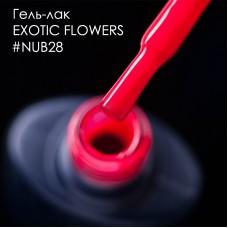 Гель лак NUB №028 EXOTIC FLOWERS 8мл