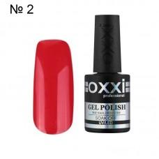 Гель лак OXXI № 002 классический красный яркий 10 мл.