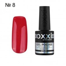 Гель лак OXXI № 008 красная эмаль 10 мл.