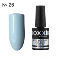 Гель лак OXXI № 026 нежно голубая эмаль, 10 мл.