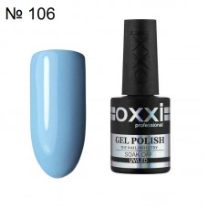 Гель лак OXXI № 106 голубой пастельный, эмаль, 10 мл.