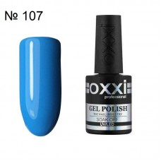 Гель лак OXXI № 107 светло синяя эмаль, 10 мл.