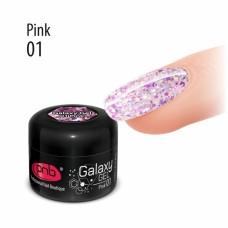 Гель с крупной блёсткой розовый PNB Galaxy Gel 01 Pink