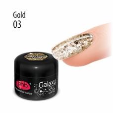 Гель с крупной блёсткой золотой PNB Galaxy Gel 03 Gold