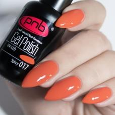Гель-лак PNB оранжевый 8 мл Spicy 017