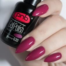 Гель-лак PNB темно вишневый с микроблеском 8 мл Imperial 020