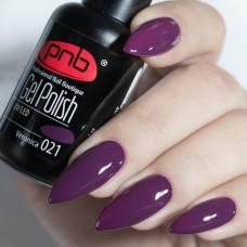 Гель-лак PNB темно фиолетовый 8 мл Veronica 021
