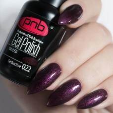 Гель-лак PNB темно сливовый с микроблеском 8 мл Seductive 022