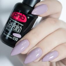 Гель-лак PNB лавандовый с микроблеском 8 мл Rosy Lavender 030