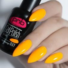 Гель-лак PNB ярко оранжевый 8 мл Orange 033