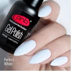 Гель-лак ультра белая эмаль PNB Perfect White 8 мл