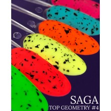 Матовый топ с черной крошкой SAGA Geometry №4, 8мл