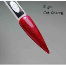Малиновый гель лак кошачий глаз Cat Cherry SAGA, 8мл