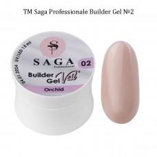 Гель для наращивания ногтей камуфлирующий BUILDER GEL SAGA №002, 15мл.