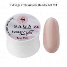 Гель для наращивания ногтей камуфлирующий BUILDER GEL SAGA №004, 15мл.