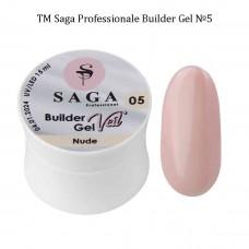 Гель для наращивания ногтей камуфлирующий BUILDER GEL SAGA №005, 15мл.