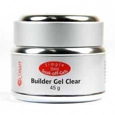 Био-гель прозрачный Smart Builder Gel Clear 45гр