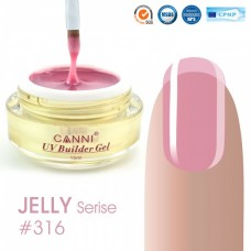 Конструирующий гель для ногтей CANNI полупрозрачный розовый 316