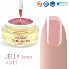 Конструирующий гель для ногтей CANNI прозрачно розовый 317