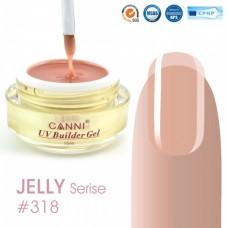 Конструирующий гель для ногтей CANNI полупрозрачный персик  318