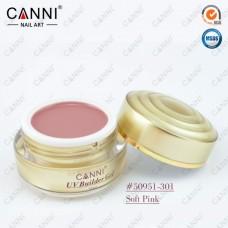 Камуфлирующий гель для наращивания CANNI нежно розовый 301