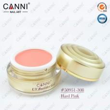 Камуфлирующий гель для наращивания CANNI темно розовый 308