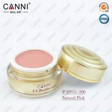 Камуфлирующий гель для наращивания CANNI натурально розовый 306