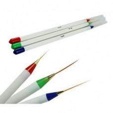 Набор линиарных кистей для рисования 3шт NK-05