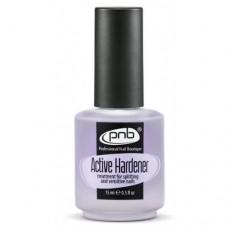 Средство для укрепления ломких и слоящихся ногтей Active Hardener, 15ml PNB