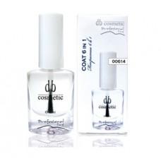 Закрепитель для ногтей 6 в 1 COAT 6 in 1 DB cosmetic 00614, 10ml