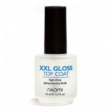 Верхнее покрытие для мега-яркого блеска XXL Gloss Naomi, 15ml