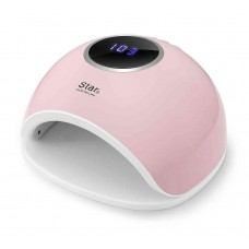 Лампа для сушки геля и гель лака STAR 5 LED+UV 48w розовая