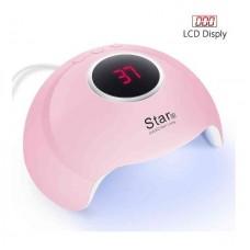 Лампа для сушки геля и гель лака STAR 6 LED+UV 24w розовая