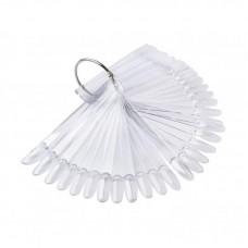 Прозрачные типсы на кольце овал (миндаль), 50шт