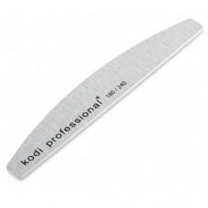 Пилка для натуральных ногтей Half Grey 180/240 Kodi