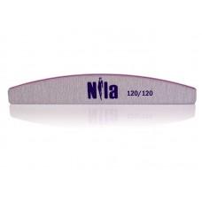 Пилка для искусственных ногтей Half 120/120 Nila