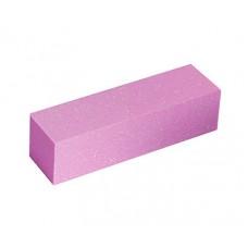 Профессиональный баф (шлифовщик) для ногтей розовый 120 гритт