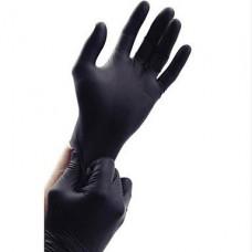 Перчатки нитриловые защитные 1 пара черные (2 шт)