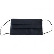 Маска защитная флизелиновая черная плотная 1 шт.