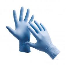 Перчатки нитриловые защитные голубые 1 пара (2 шт)