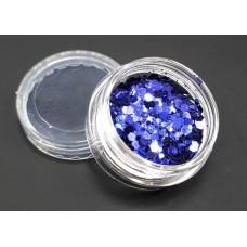 Брокат для дизайна ногтей фиолетовый №В-01