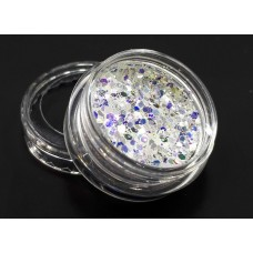 Брокат для дизайна ногтей зеркальный №В-13