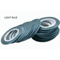 Лента бархатная для дизайна ногтей голубая LIGHTE BLUE, 1 мм